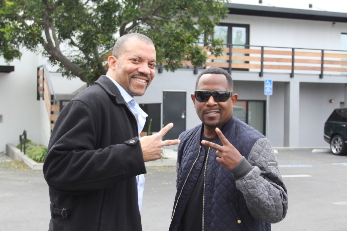 Christopher B. Duncan with Martin Lawrence on Raptors